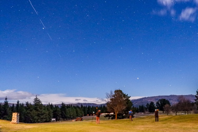 Shooting under moon and stars at Alexandra Golf Course