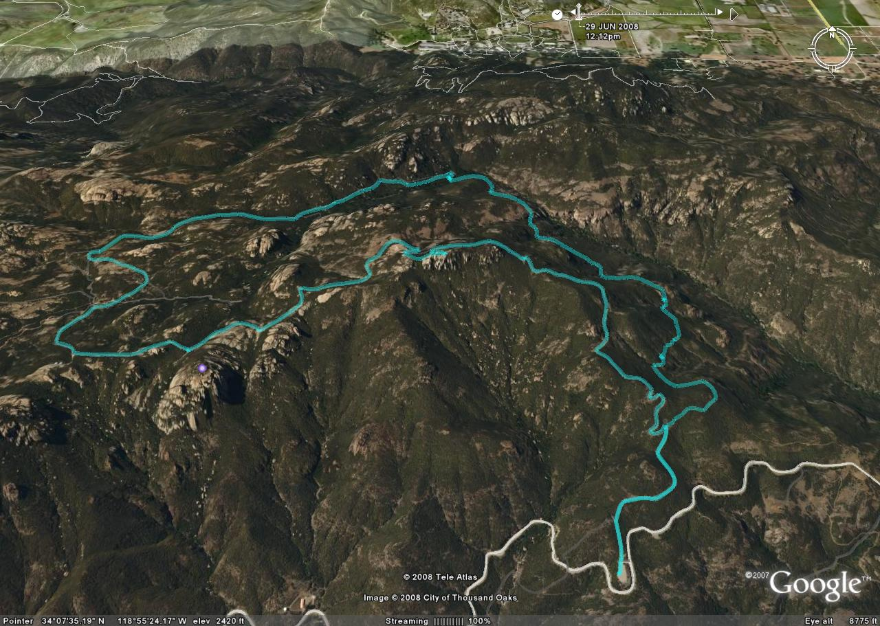 Google Earth overlay of GPS Track