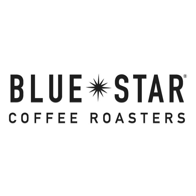 blue star coffee logo