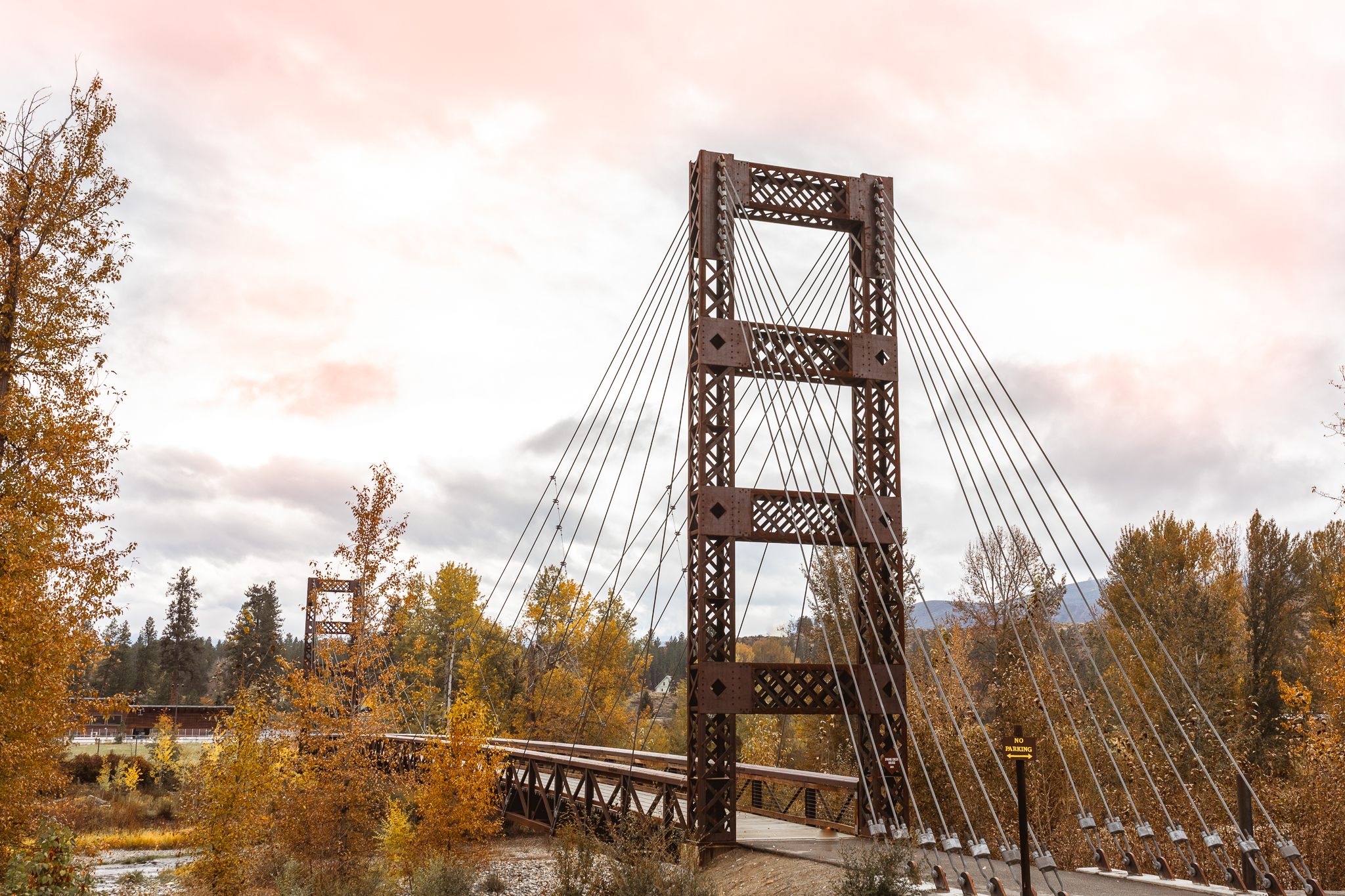 Spring Creek Bridge Downtown western town winthrop washington photo by Anne Young