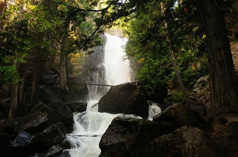 waterfall in winthrop washing falls creek waterfall
