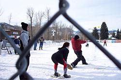 snowshoe softball tournament camping winthrop washington