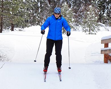 x-country ski in winthrop washington winter wonderland