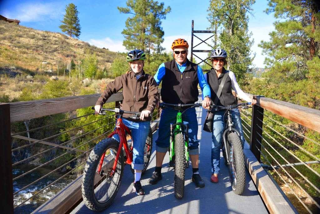 Sa Teekh Wa Bridge Winthrop Washington fat biking sunny day