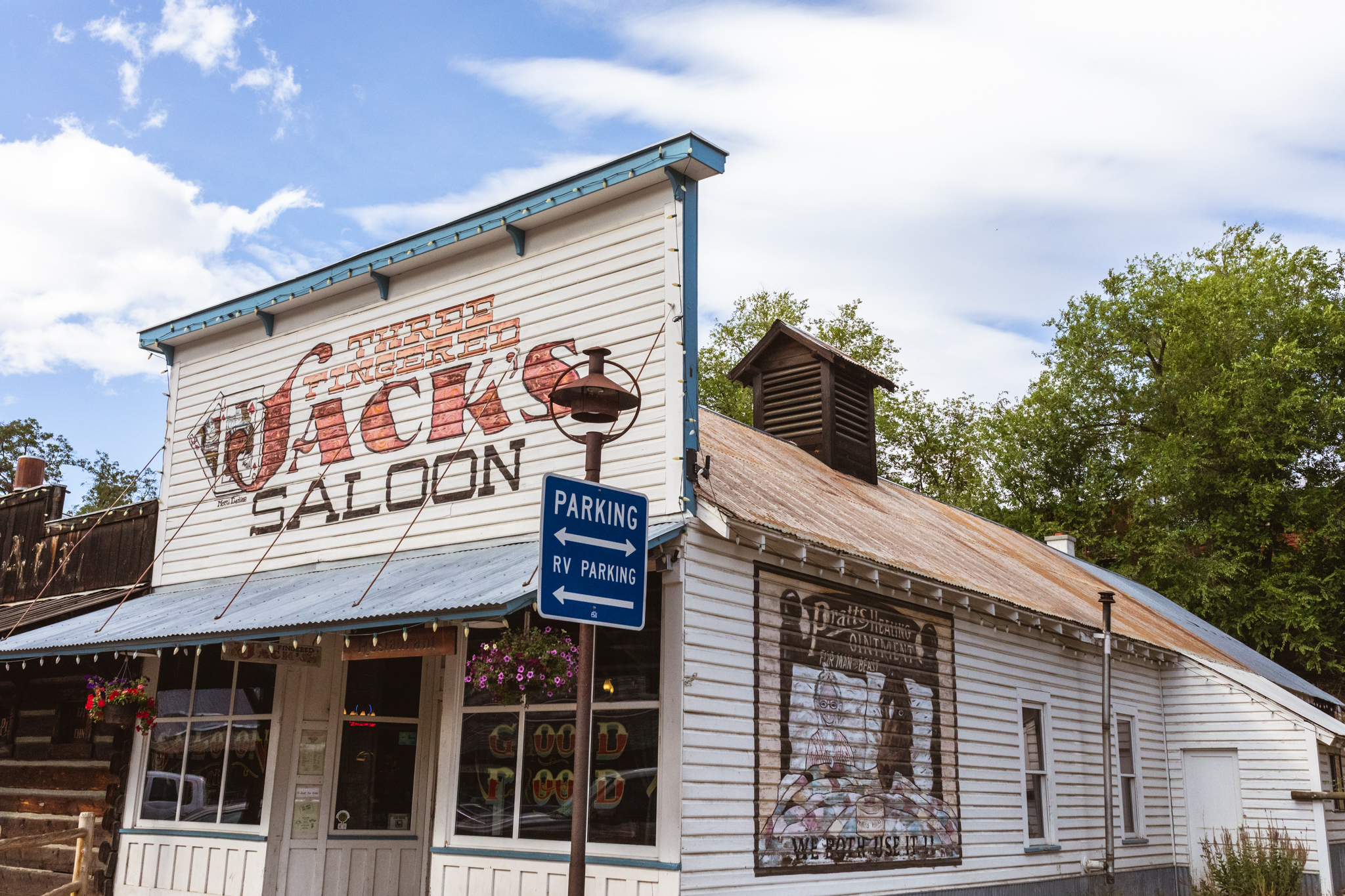 Three Fingered Jack's Saloon Winthrop WA Visit Methow Valley Old West THank Firefighters