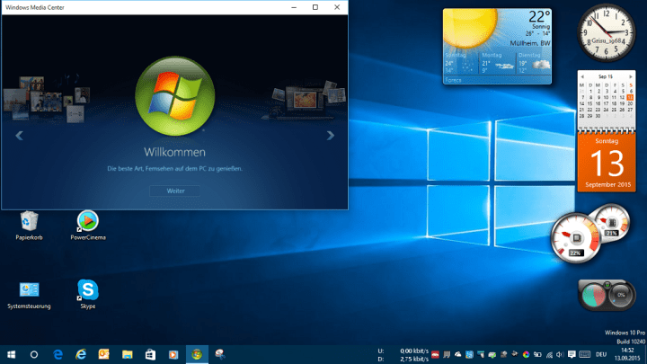 Windows Media Center Windows 10 Start Media Center