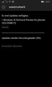 Windows 10 Mobile build 10586.71