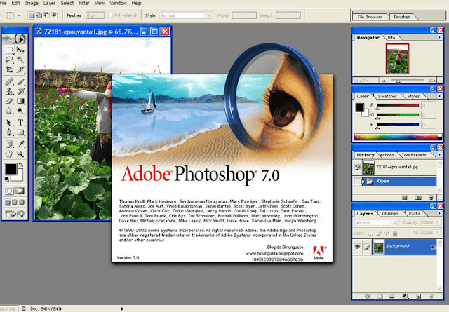 Adobe-Photoshop-7.0 layout