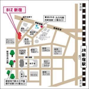 BIZ新宿の地図