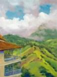 """Blue Mountain Mist"" oil, 9"" x 12"" by Daphne Wynne Nixon"