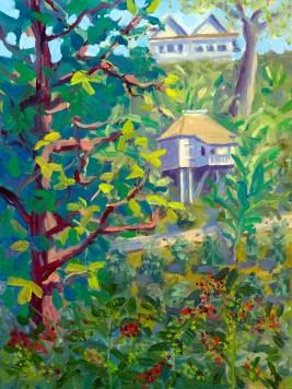 """""""Ripe Coffee Beans"""", 9"""" x 12"""", oil by Daphne Wynne Nixon"""
