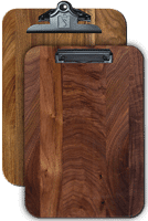 "Full Page Menu Clipboards 9.5""x 13.5"" Black Walnut"