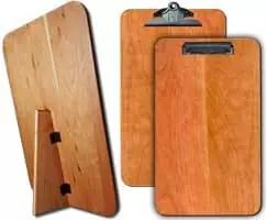 "Hardwood Standing Menu Board 9.5"" x 16"" Warm Cherry"
