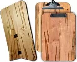 "Wooden Freestanding Menu Boards 9.5"" x 13.5"" Ambrosia Maple"