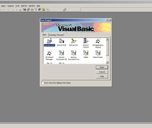Vb6 Startup Screen