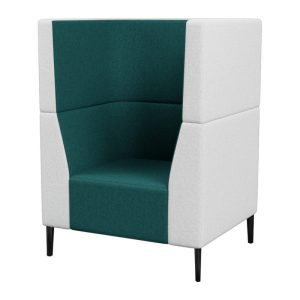 Haven Tall Both Arms 1Seater Metal Feet 800×800