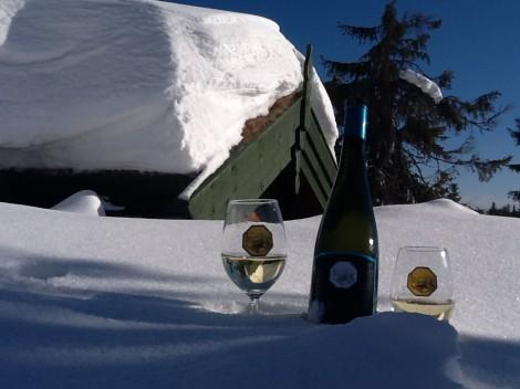 Hermeswein im Schnee