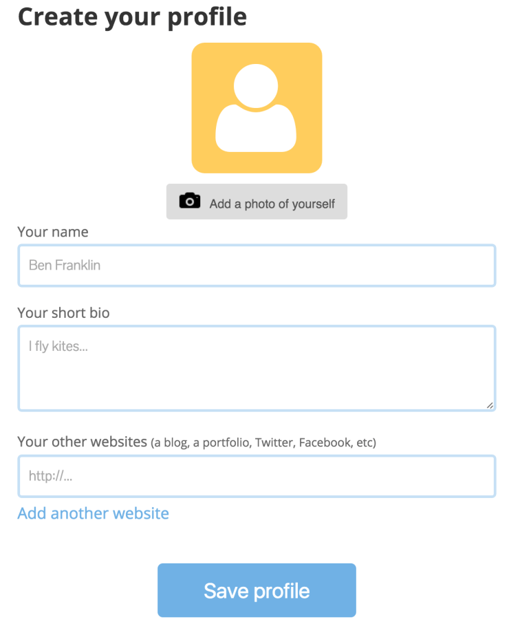 Create_your_profile