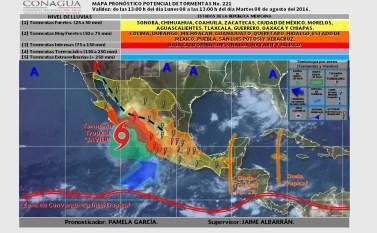 """Tormenta """"Javier"""" se debilita a depresión tropical, sigue la alerta roja en Baja California Sur javier-1"""