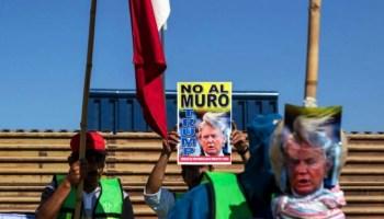Frontera entre México y EU, Protesta contra Trump