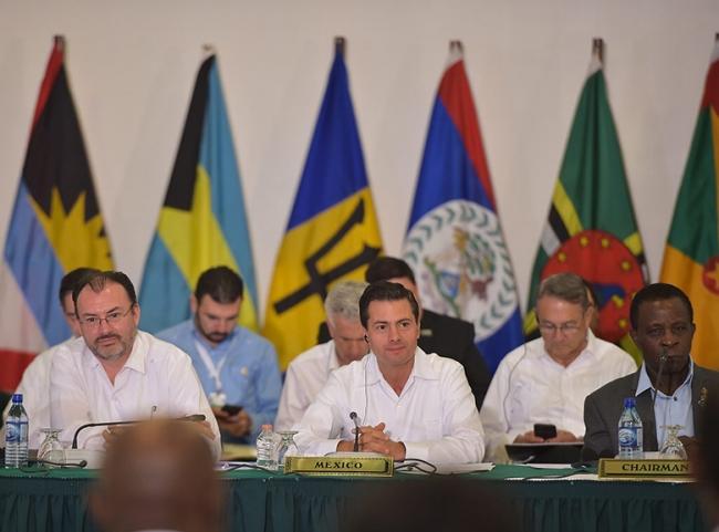 Peña Nieto convocó al mundo a prestar mayor atención a la región del Caribe cNTX171025099