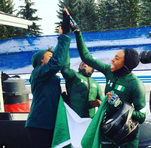Adigun, Onwumere y Omeoga representantes de Nigeria