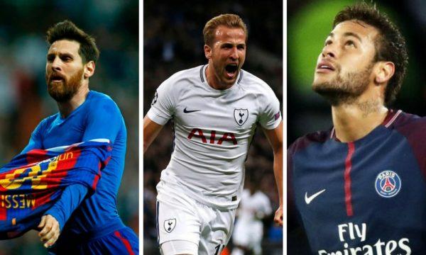 Kane, Messi y Neymar los mejores delanteros