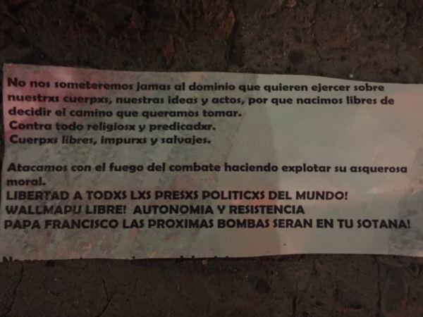 Previo a la visita papal, se registran atentados en iglesias de Santiago foto_0000001520180112014821-600x450