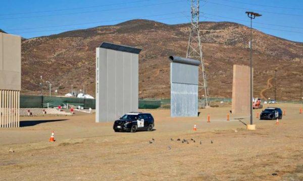 A unos pasos de México, Trump inspecciona varios prototipos del muro fronterizo TrumpMexicoWallPrototypes-1020x610-600x359