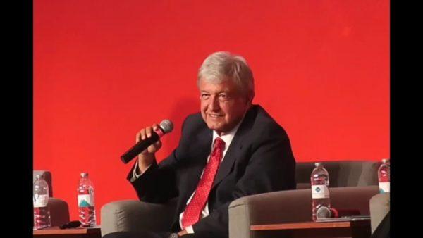 Ante la ANTAD, López Obrador aseguró que la corrupción viene desde el presidente amlo-antad-2-600x338