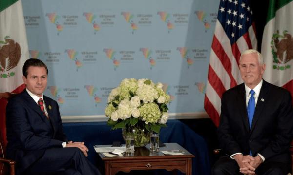Enrique Peña Nieto se reunió con Mike Pence, el vicepresidente de Estados Unidos durante Cumbre de las Américas Captura-de-pantalla-2018-04-14-a-las-13.38.35-600x359