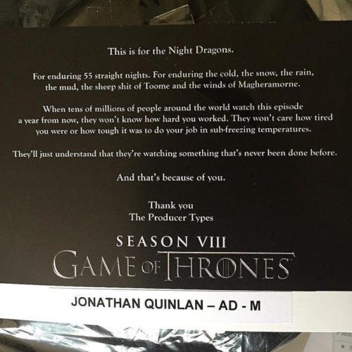 "La última temporada de ""Game of Thrones"" tendrá una épica batalla Jonathan-Quinlan-Season-8-Winterfell-Battle-Shoot-Magheramorne-Moneyglass-500x500"