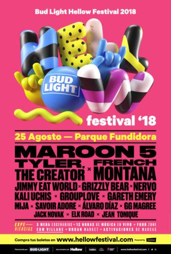 Maroon 5 encabeza el lineup del Hellow Festival 2018 lineup-336x500