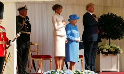 Isabel II recibió a Donald Trump