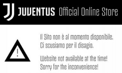 tienda digital de la Juventus colapsó