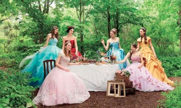 Lanzan colección de vestidos de novia inspirados en princesas de Disney Princesas-vestidos-01-600x360