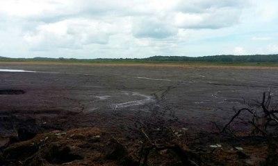 desaparece laguna por causa de falla geológica
