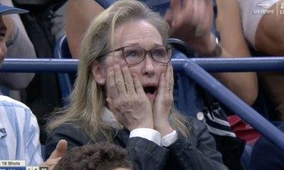 Meryl Streep en la final del US Open