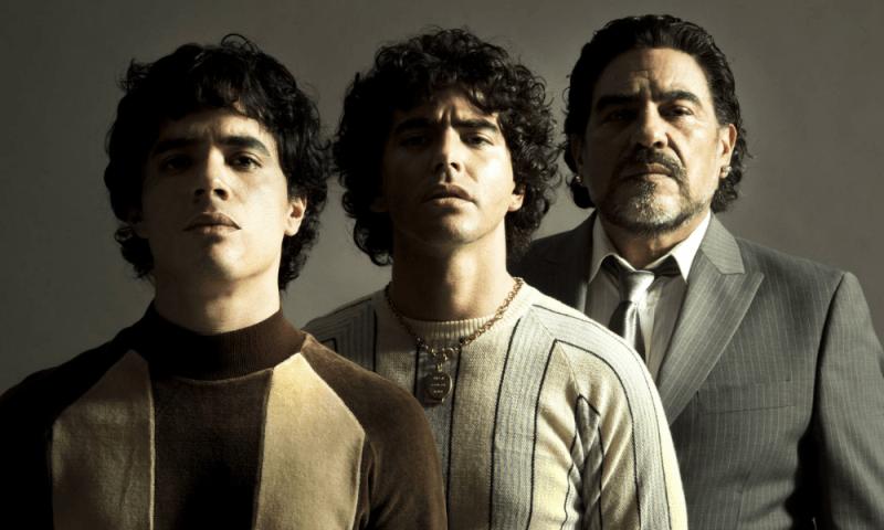 Revelan la primera imagen de la serie de Maradona marado-600x360