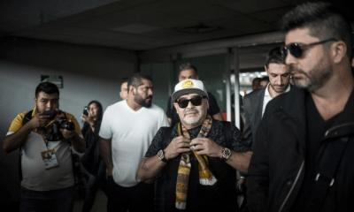 llegada de Maradona a México