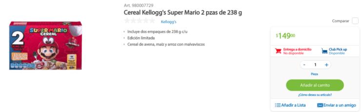 'Super Mario Cereal'
