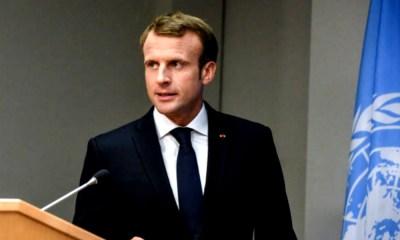 Joven se tomó la fotografía con Macron