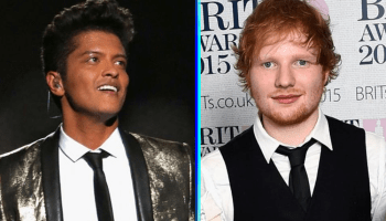 Ed Sheeran le cantó a Bruno Mars