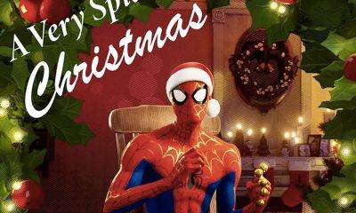 disco navideño de 'Spider-man'