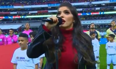 Ana Bárbara en la Final de Liga MX