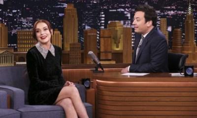 Lindsay Lohan y Jimmy Fallon