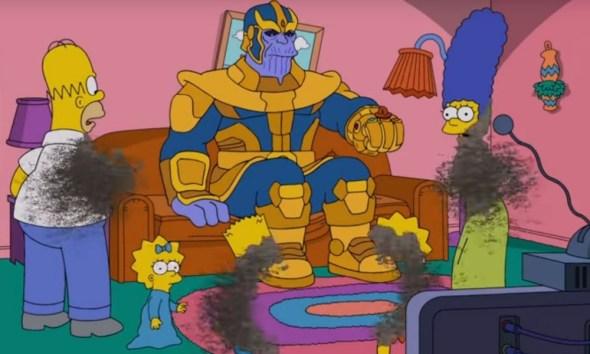 Thanos desapareció a 'The Simpsons'