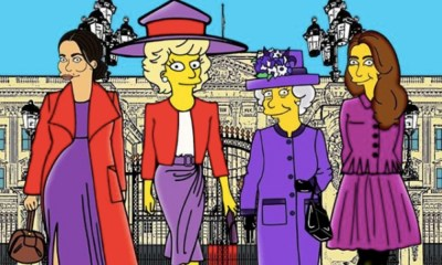 familia real al estilo de 'The Simpsons'