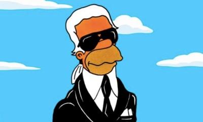 Karl Lagerfeld es inmortalizado en 'The Simpsons'