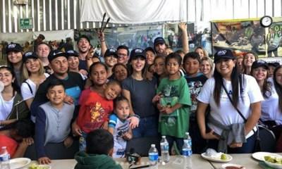 Eiza González convivió con niños refugiados
